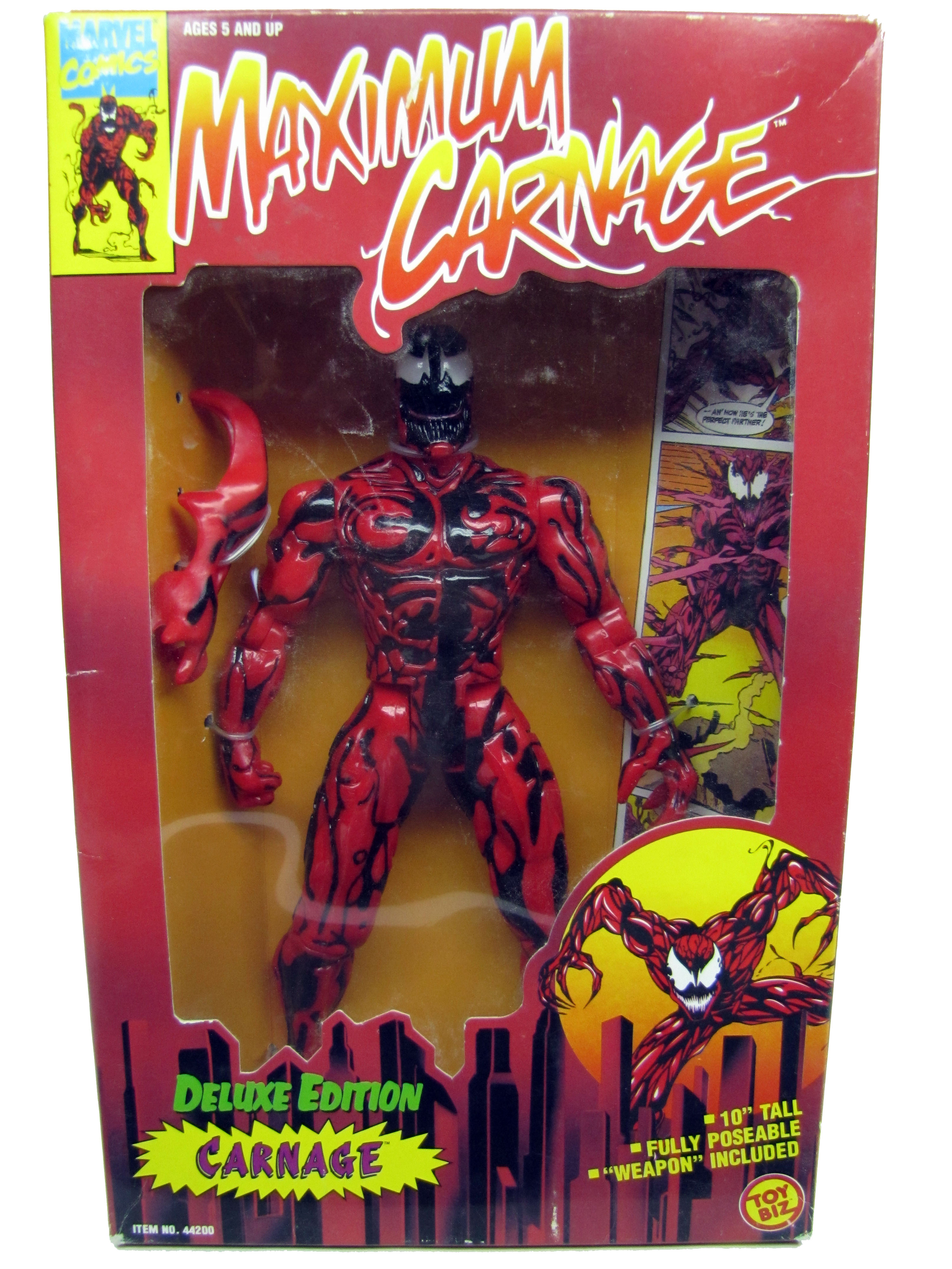 "Spider-Man Animated Series 10"" Deluxe Maximum Carnage Sealed"